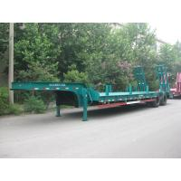 Wholesale 35 Tons Semi Low Bed Trailer With Bogie Suspension High Strength Steel from china suppliers