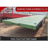 Wholesale 3 Axles Flatbed Container Trailer for Carry Container , Hoses , Cement Bags from china suppliers