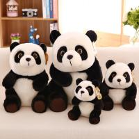 Wholesale Stuffed Animal Kids Plush Toys Genuine Plush Black Panda Shaped , 20cm / 30cm / 45cm from china suppliers