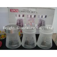 Wholesale special shape machine pressed glass storage jar for sale from china suppliers