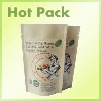 Wholesale Organically Grown Craft Paper Stand Up Packaging Bags For Capsule / Tea from china suppliers