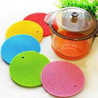 Wholesale Multipurpose Round Honeycomb Silicone Pot Holders Colorful Silicone Table Mat from china suppliers