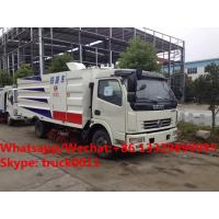 Buy cheap 2018s new design best seller-customized dongfeng 120hp diesel street sweeper vehicle for Gambia, road cleaning vehicle from wholesalers