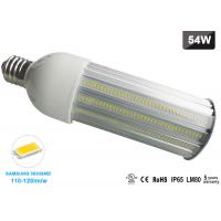 Wholesale AC85-265V 180 Degree 120lm/w LED Corn COB Bulb E40 LED Street and Area Lighting 54 Watt from china suppliers
