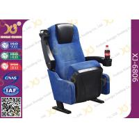 Wholesale Blue Fabric Folding VIP Cinema Seating , Plastic Theater Seats from china suppliers
