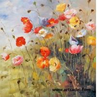 Wholesale 100% Handmade Impression Flower Oil Painting On Canvas from china suppliers