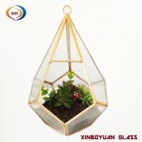 Wholesale wholesale MOQ 20pcs Handmade geometric glass plant terrarium from china suppliers