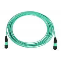 Wholesale MTP 24 Core Fiber Optic Patch Cord MPO Trunk Cable OM3 OM4 with Aqua Color from china suppliers