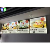 Wholesale Aluminum Indoor LED Menu Light Box / Lightbox Menu Board Energy Saving from china suppliers