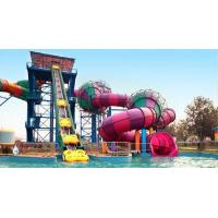 Wholesale Storm Valley Slide Children / Adults Outdoor Colorfull Fiberglass Water Slides Equipment for Water Park Resort from china suppliers