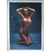 "Wholesale Art ORIGINAL NUDE OIL PAINTING ""Tempt of Blue"" from china suppliers"