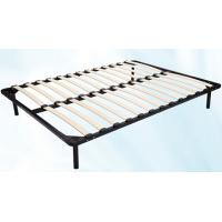 Wholesale 1.5m * 1.8m Metal Frame Bed With Durable Wood Slat Stable Structure from china suppliers