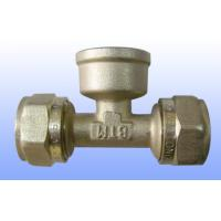 Wholesale compression brass fitting female tee for PEX-AL-PEX from china suppliers