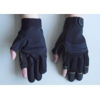 Wholesale Black, Red and blue Fingerless Synthetic Leather Palm Household, Mechanic Work Gloves from china suppliers