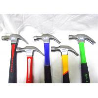 Wholesale Construction Site Brick Hand Tools Hammer , Claw Hammer With Fiberglass Handle from china suppliers