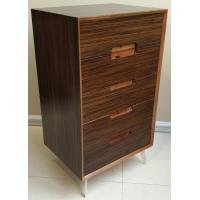 Five-drawer storage cabinet, wood structure and steel supporting leg