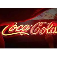 Wholesale Vintage LED Custom Outdoor Neon Signs Low Voltage For Coca Cola LOGO Signage from china suppliers