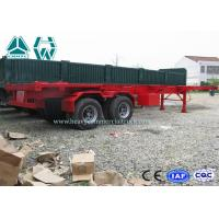 Professional 40 Ft Long Vehicle Skeleton Low Bed Semi Trailer 2 Axles Extendable Trailers