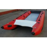 Wholesale Red Hand Crafted High Speed Inflatable Boats Racing Catamaran Boat With 450cm Length from china suppliers