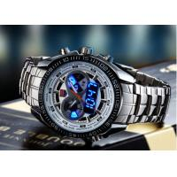 Wholesale Silver Case Dual Time Wrist Watches from china suppliers