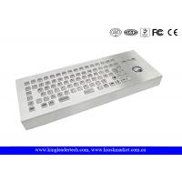 Wholesale Desktop Stainless Steel Industrial Keyboard With Trackball , Mechanical Trackball Keyboard from china suppliers