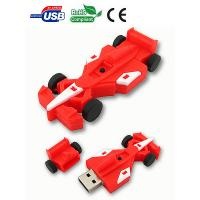 Wholesale Car Shaped USB Flash Drive, Red Racing Style USB Memory Stick With Custom LOGO from china suppliers