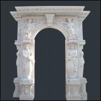 Buy cheap carving man statue stone fireplace from wholesalers