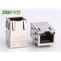 Wholesale 10/100 BASE single Port RJ45 Magnetics connector Ethernet Modular jack customized from china suppliers