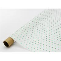 Fade Resistant Hot Stamping Tissue Paper 17gsm Green Dot For Bouquet