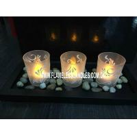 Wholesale Wedding Decoration Glass Votive Candles and Holders With Wooden Tray and Rock from china suppliers