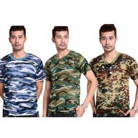 Wholesale Professional Short Sleeve Camouflage T Shirt Printing For Man from china suppliers