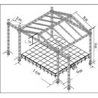 Wholesale Concert Aluminum Stage Truss Tower With Roof Stage 760mm X 600mm from china suppliers