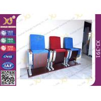 Wholesale Three Seats Customized Strengthen Aluminum Auditorium Chairs With Square Plywood from china suppliers