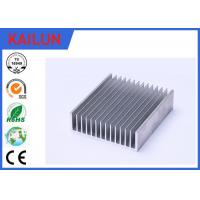 Wholesale Sliver Anodized Industrial Aluminium Profiles , High Power Extruded Aluminum Heat Sink Enclosure from china suppliers