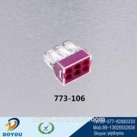 Wholesale led light push wire wago type connector 773-106 from china suppliers
