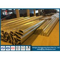 Wholesale Hot Dip Galvanized Power Transmission Poles Durable For Transmission Line from china suppliers