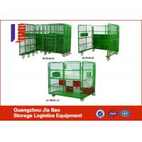Wholesale Foldable Logistic Warehouse Trolley , Metal Roll Container Logistic Cart from china suppliers