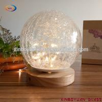 Buy cheap Buy Crackle Touch Table Lamp crackle glass table reading light from wholesalers