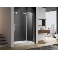 Buy cheap Sliding shower door with stainless steel 304 wheel,handle,sliding rail,curved 10mm tempered glass from wholesalers