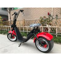 Wholesale Red Black Fat Tire Harley Scooter For Adult , 1200w Brushless Motor from china suppliers