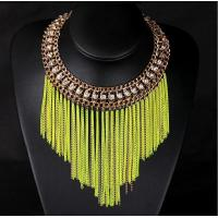 Wholesale TPN-8 fluorescent short metal chain necklace tassel necklace wholesale from china suppliers