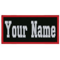 "Wholesale 4"" Wide x 1.25"" Tall Inches Custom Embroidered Name Tag Biker Patch from china suppliers"