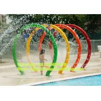 Wholesale 1.8m Rainbow Water Rings Splash Water Park Equipment Anti - Static For Spray Park from china suppliers