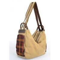 Wholesale low price woman's canvas bags patchwork with leather welcome in Germany market from china suppliers