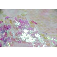 Wholesale Creative Pink Round Shell Sequin Fabric from china suppliers