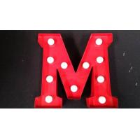 Quality 12'' / 9'' LED Marquee Alphabet Letters With Light Bulbs For Home Decoration for sale