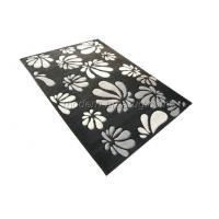 Wholesale OEM Acrylic Hand-tufted Bed Room Rugs, Black Floral Area Rug Customized from china suppliers