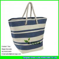 Wholesale LUDA oversized handbags stripe paper straw shopping large totes from china suppliers
