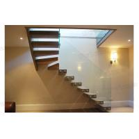 Quality DIY install floating stairs glass railing cantilever stair for sale
