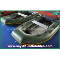 Wholesale Green 0.9 / 1.2 mm Tarpaulin PVC Inflatabe Boats with Aluminum Floor / Paddles from china suppliers